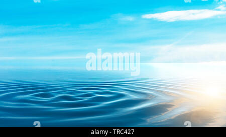Horizon of the sea at sunset in the Atlantic - Stock Image