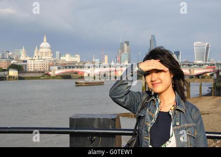 Japanese tourist, London, England, UK - Stock Image