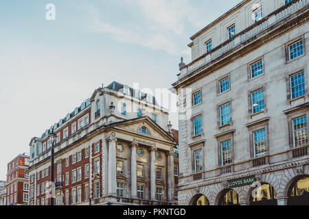 LONDON, UNITED KINGDOM - August 21st, 2018: architecture in London city centre in Piccadilly street - Stock Image