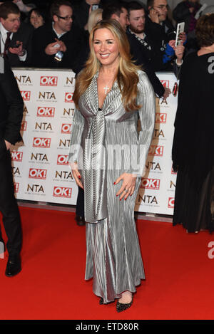 National Television Awards held at the O2 - Arrivals.  Featuring: Claire Sweeney Where: London, United Kingdom When: - Stock Image
