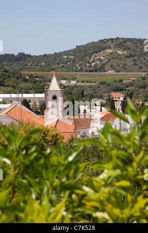 Portugal, Algarve, Pademe, View over Village - Stock Image