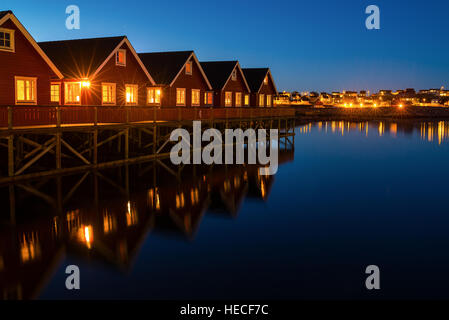 Village in northern norway - Stock Image
