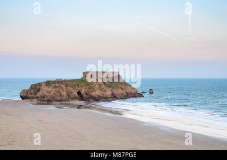 Saint Catherine's Island, Tenby Beach, Pembrokeshire, South Wales - Stock Image