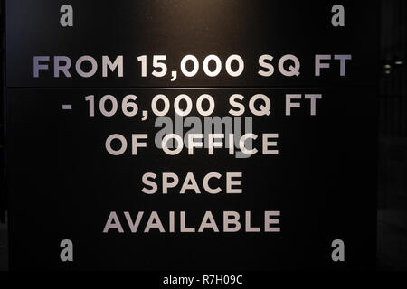 Office space to Let in London UK - Stock Image