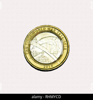 Limited edition British £2 coin commemorating the first world war and the role of the Army - Stock Image