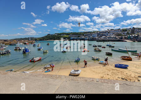 St. Ives Harbour, St. Ives, Cornwall, England, UK - Stock Image