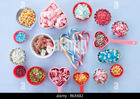 Colorful Sugar Decorations For Christmas - Stock Image