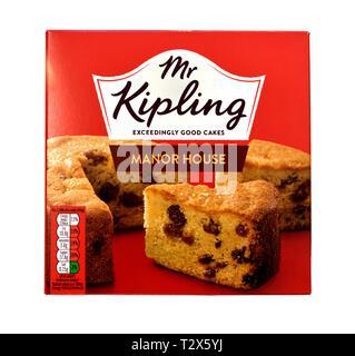 Mr Kipling Manor House Cake - Stock Image