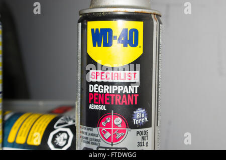 wd-40 specialist, oil, penetration oil - Stock Image