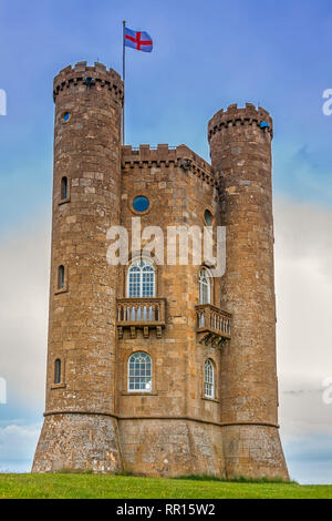 The Broadway Tower, The Cotswolds,Worcestershire, UK - Stock Image