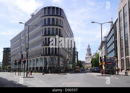 Credit Lyonnais bank at 30 Cannon Street London - Stock Image