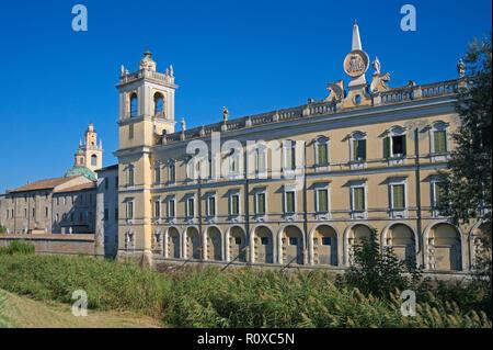 side view of the Ducal Palace (Palazzo Ducale or Reggia di Colorno), Colorno, Emilia-Romagna, Italy - Stock Image