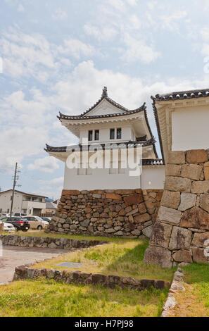 Reconstructed in 1940 Corner Turret of Tanabe castle, Japan - Stock Image