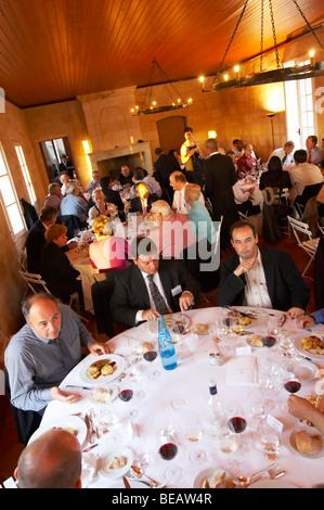 gala dinner at citadelles du vin wine competition bourg bordeaux france - Stock Image