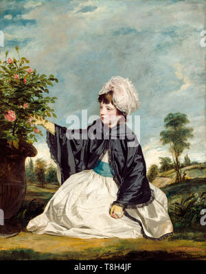 Sir Joshua Reynolds, Lady Caroline Howard, portrait painting as a young girl, 1778 - Stock Image