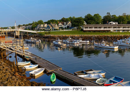 Perkins Cove, Ogunquit, Maine, USA - Stock Image