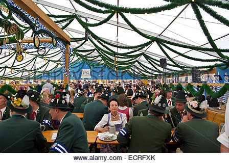 Festzelt (pavilion) at Oktoberfest, commemorating 1810 wedding of Ludwig I to Prinzessin Therese von Sachsen-Hildburghausen. - Stock Image