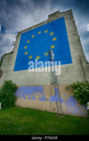 banksy mural dover - Stock Image
