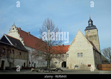 wasserburg egeln in the salzlandkreis in saxony-anhalt - Stock Image