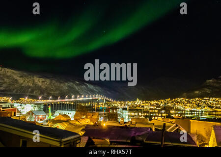 Tromso, Norway. 4th Feb, 2019. Aurora Borealis or Northern Lights at Tromso, Norway. Credit: Credit: JHNEWS/Alamy Live News - Stock Image
