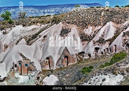 Cave Dwellings Cappadocia Turkey - Stock Image