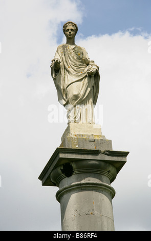 Statue of the Goddess Flora, Flora's Lawn, Syon Park, Brentford, Middlesex, London, England, UK - Stock Image