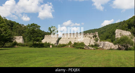 AUSTIN, PA, USA-10 AUGUST 18: Remains of a dam which failed soon after construction, in 1911, causing the deaths of 78 people. - Stock Image