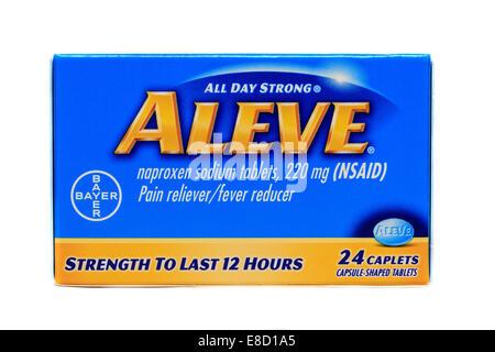 Aleve Naproxen Sodium Tablets - Stock Image