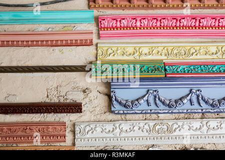 Cuba, Havana. Display of colored plaster building decor. Credit as: Wendy Kaveney / Jaynes Gallery / DanitaDelimont.com - Stock Image