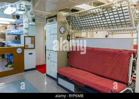 The Marine Barracks, crew quarters, Royal Yacht Britannia, Port of Leith, Edinburgh, Scotland, UK - Stock Image