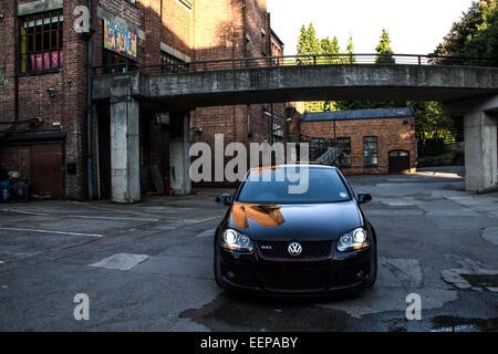 Volkswagen VW Golf GTi Black - Stock Image