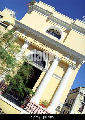 The outside entrance to the El Convento hotel in Old San Juan. An architectural landmark in the heart of historic Old San Juan, El Convento is a forme - Stock Image
