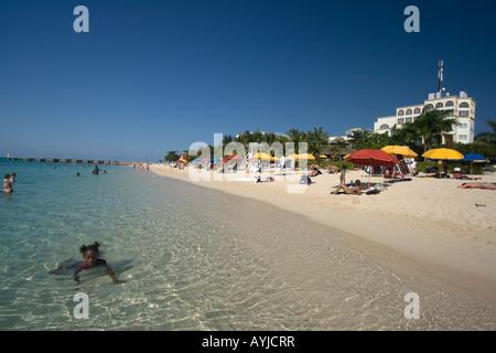 Jamaica Montego Bay beach Dr Caves beach - Stock Image