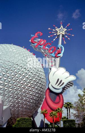 Epcot Magic Kingdom Disneyland Orlando Florida USA - Stock Image