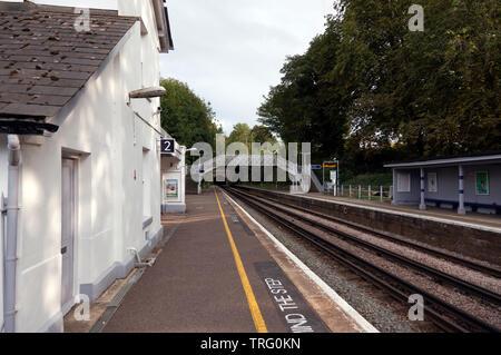 View of the platform at Shepherdswell railway station on the Southeastern  Railway,  Shepherdswell, Kent - Stock Image