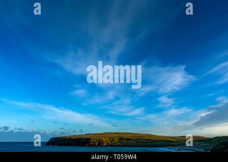 Duncansby Head over Sannick Bay, from the Ness of Duncansby, near John o' Groats, Caithness, Scotland, UK - Stock Image