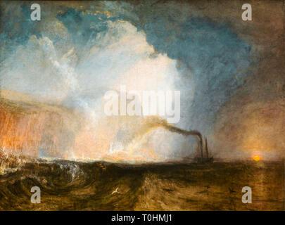 JMW Turner, Staffa, Fingal's Cave, painting, c.1831 - Stock Image