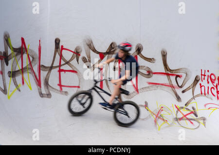 skateboarding,cyclists,youth culture,bmx - Stock Image