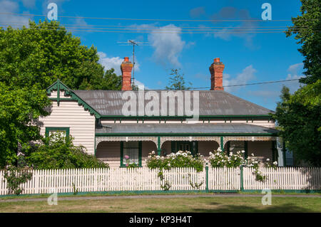 Late Victorian-era country home in Ballan, western Victoria, Australia - Stock Image
