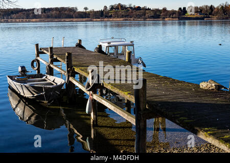Boat bridge - Stock Image