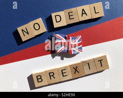 No Deal, Brexit - Stock Image