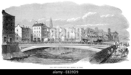 Northgate Iron Bridge River Lee Cork Corcaigh Ireland 1864 - Stock Image
