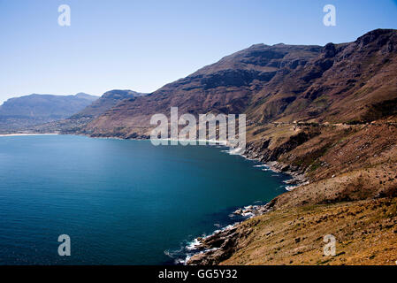 View of coast during sunny day - Stock Image