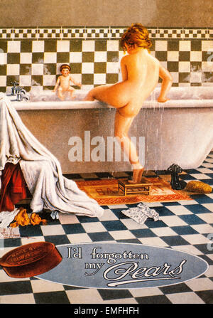 A Victorian advertisement for Pear's Soap - Stock Image
