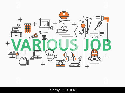 Infographic illustration related to Various Job - Stock Image