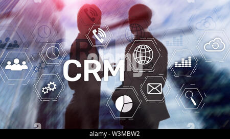 Business Customer CRM Management Analysis Service Concept. Relationship Management - Stock Image