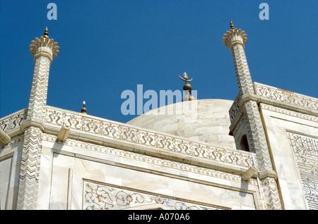 Taj Mahal Roof Detail, Rajasthan, India - Stock Image