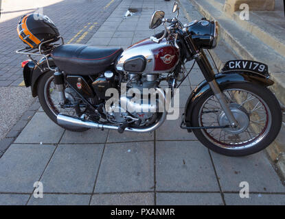 1960's Matchless twin cylinder motor cycle - Stock Image