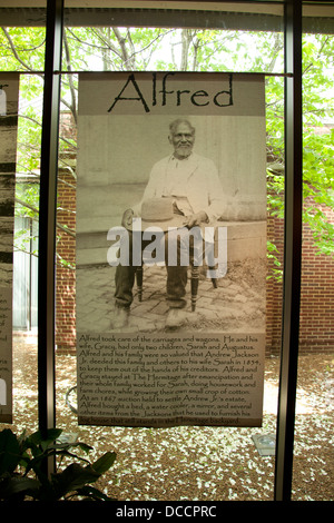 Photo of Uncle Alfred a slave at the Hermitage the plantation home of President Andrew Jackson in Nashville Tennessee - Stock Image