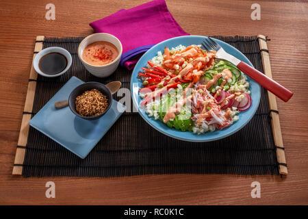 Californian sushi bowl - Stock Image